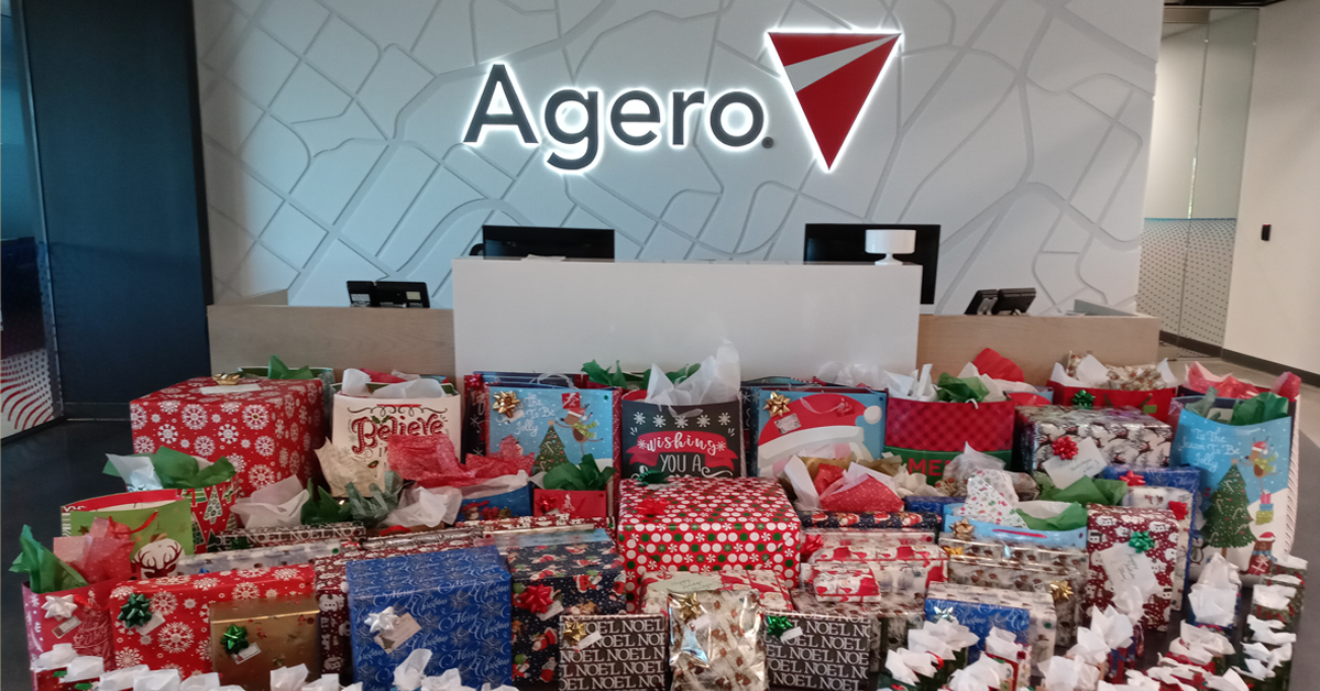 Contributions from Agero associates to the Mystic Valley Holiday Gift Drive to benefit Mystic Valley Elder Services.
